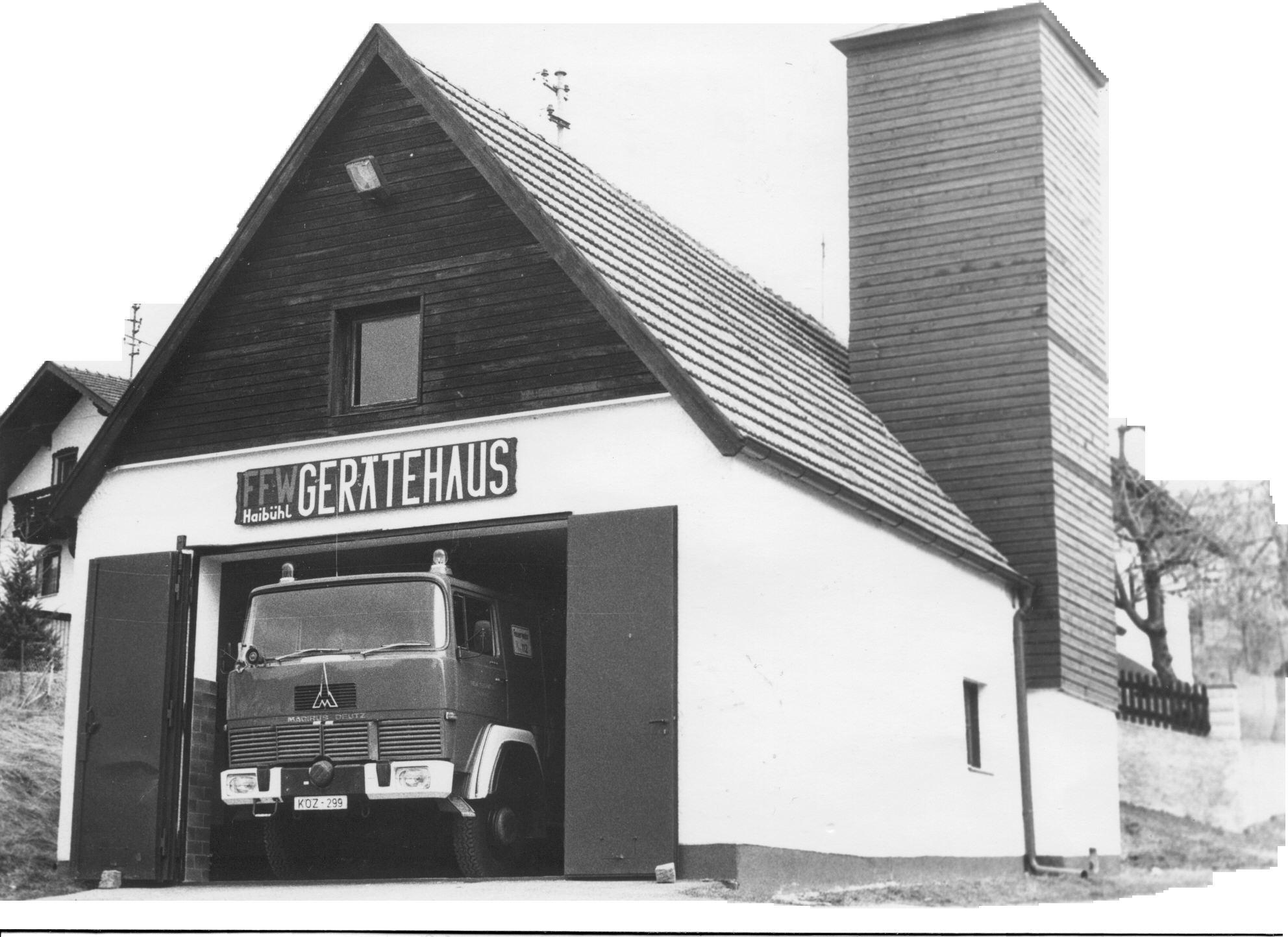 Altes Gerätehaus Haibühl (Aufnahme 1984)
